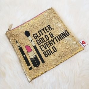 Glitter Gold and everything Bold Makeup Pouch